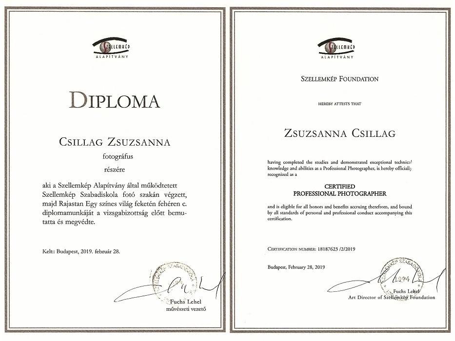Szellemkép Diploma.
